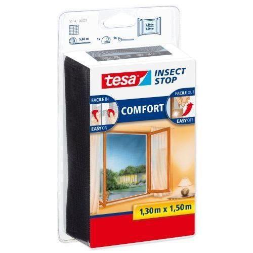 Zanzariera per finestre TESA Comfort - 1,3 mx 1,5 m - Nera