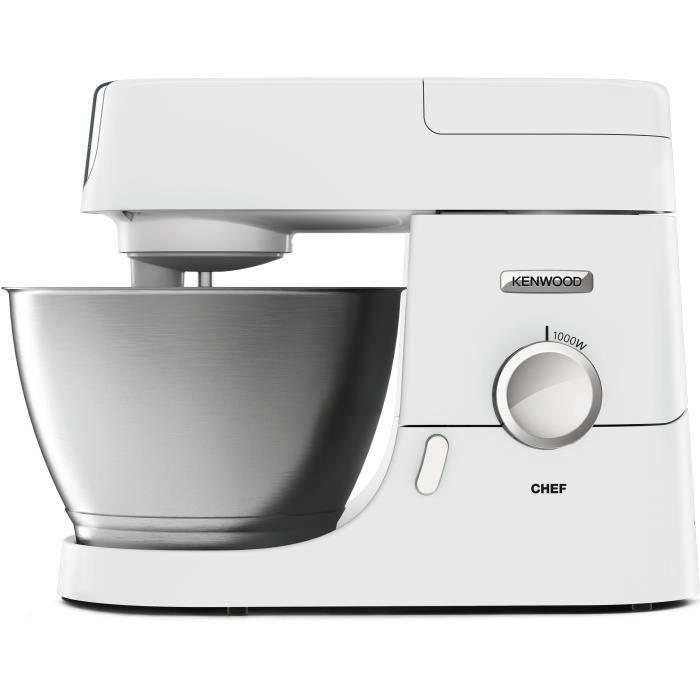 KENWOOD KVC3173W - Robot da cucina per chef - 1000 W - Ciotola da 4,6 litri