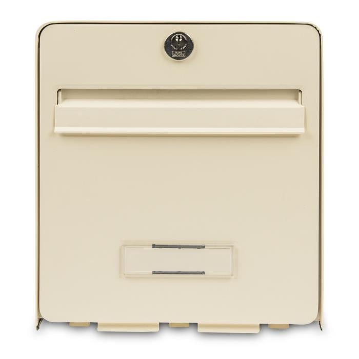 BURG WACHTER Cassetta delle lettere Bomboniera in acciaio zincato - 1 porta - Beige
