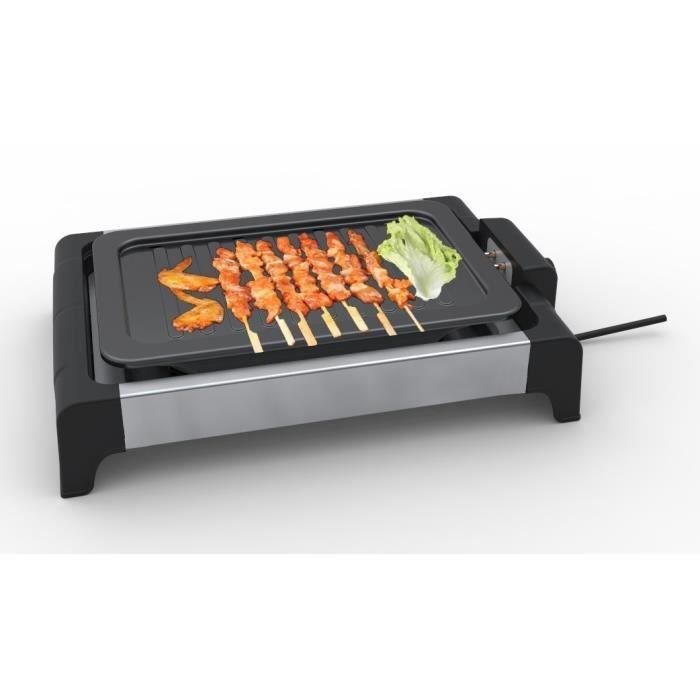 TRIOMPH ETF1493 Griglia per carne elettrica - Nero e acciaio inossidabile