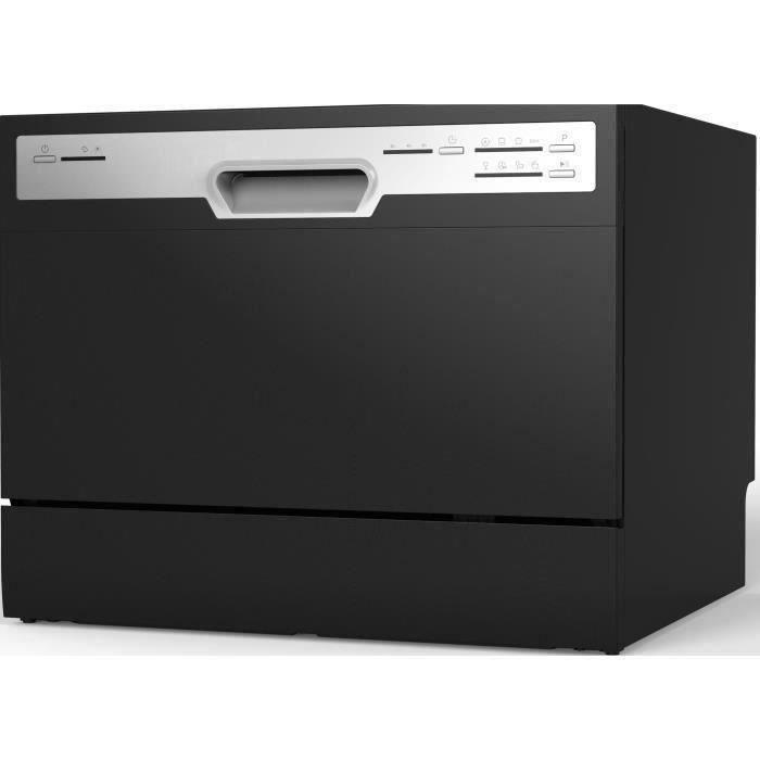 Lavastoviglie a libera installazione Besole000 OCEALVC649B - 6 coperti - Larghezza 55 cm - 49 dB - Nero