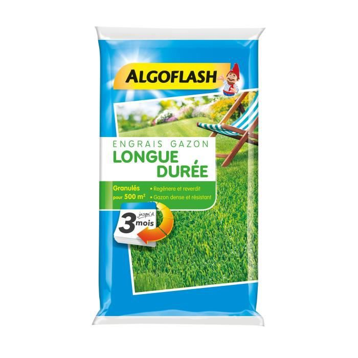 ALGOFLASH Fertilizzante per prato a lunga durata 3 mesi - 12,5 kg