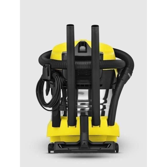 Aspirateur eau et poussiere KARCHER WD 4 Premium - Cuve inox - 20 L