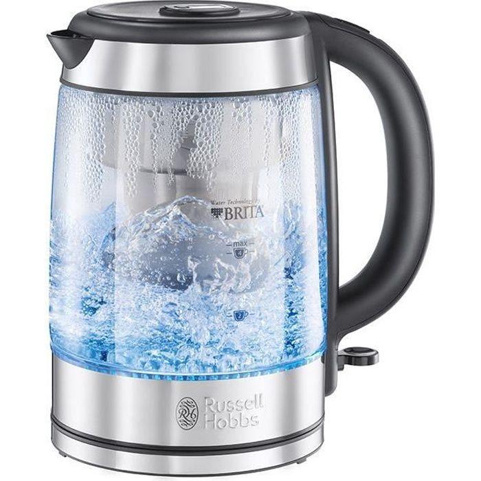 RUSSELL HOBBS 20760-57 Bollitore con filtro in vetro Clarity 1L, cartuccia del filtro dell'acqua Brita inclusa