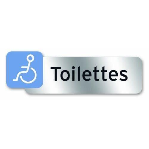 Targhetta segnaletica WC disabili - Policarbonato adesivo - 160 x 50 mm