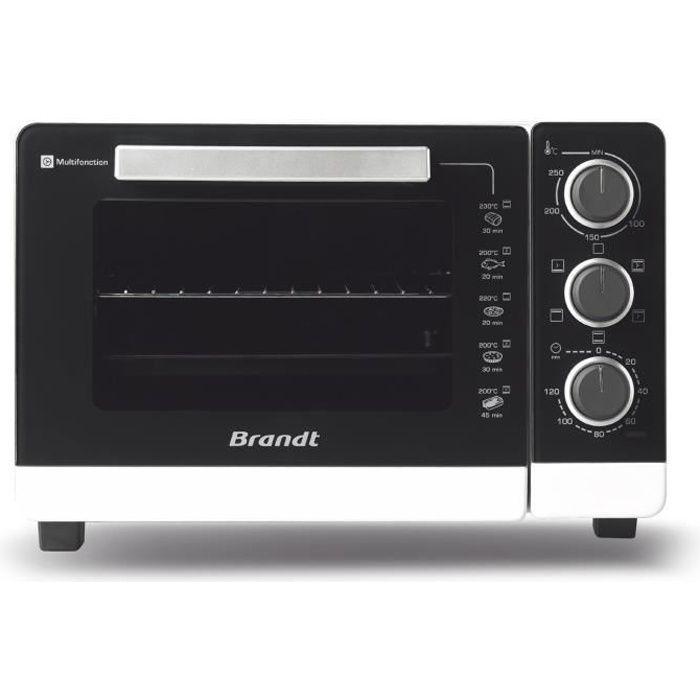 BRANDT FC265MWST - Forno Compact 26L - Multifunzione - Termostato regolabile fino a 250 ° C - 1500W - Bianco e nero