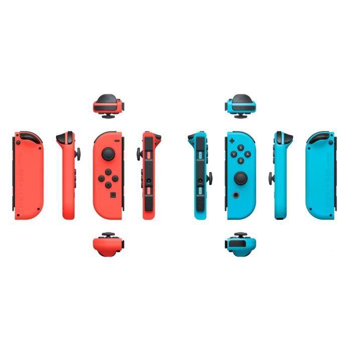 Manettes Joy-Con Bleu Néon / Rouge Néon pour Console Switch