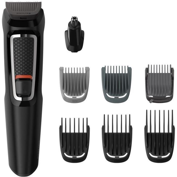 Regolabarba e capelli PHILIPS MG3730 / 15 - Multistyle - 8 in 1 - Lame autoaffilanti - Nero