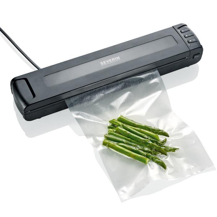 SEVERIN FS3601 Sacchetto di soda compatto - Aspirazione e chiusura automatica - Mantiene il cibo fresco 8 volte più a lungo / Nero