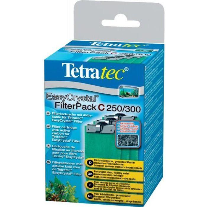 TETRA EasyCrystal C250/300 - Cartouche de Filtration au charbon pour filtres EasyCrystal 250 et 300 Brevetée - 3 cartouches