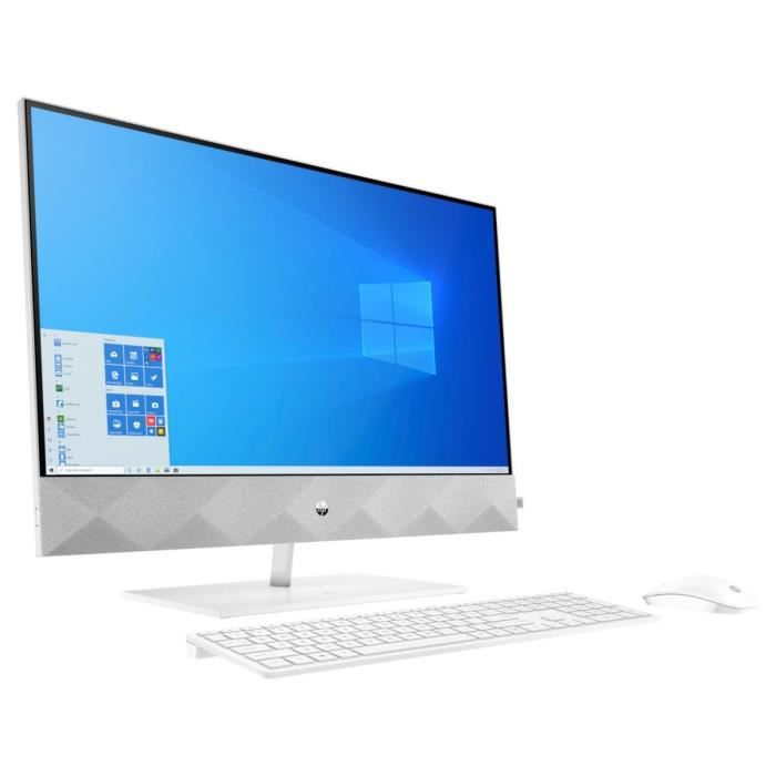 HP PC All-in-One 27-d0035nf - Core i5-10400T - RAM 16Go - Stockage 256Go SSD 1To HDD - Windows 10