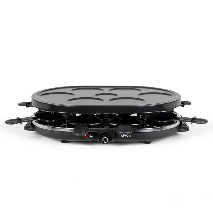 LIVOO DOC188 grill per raclette per 8 persone - nero