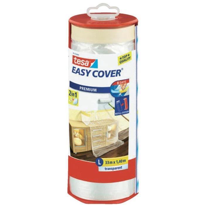 TESA Nastro per mascheratura con pellicola Easy Cover Premium L (telone per mascheratura) - 33 mx 1400 mm