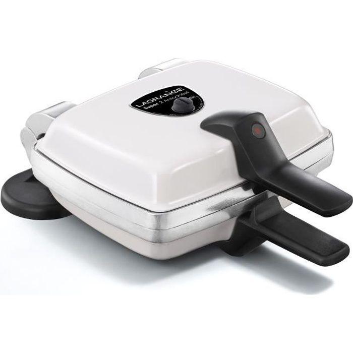 Piastra per cialde antiaderente LAGRANGE Super 2 - 1000W - 2 set di piatti: Wafer per cialde - Bianco