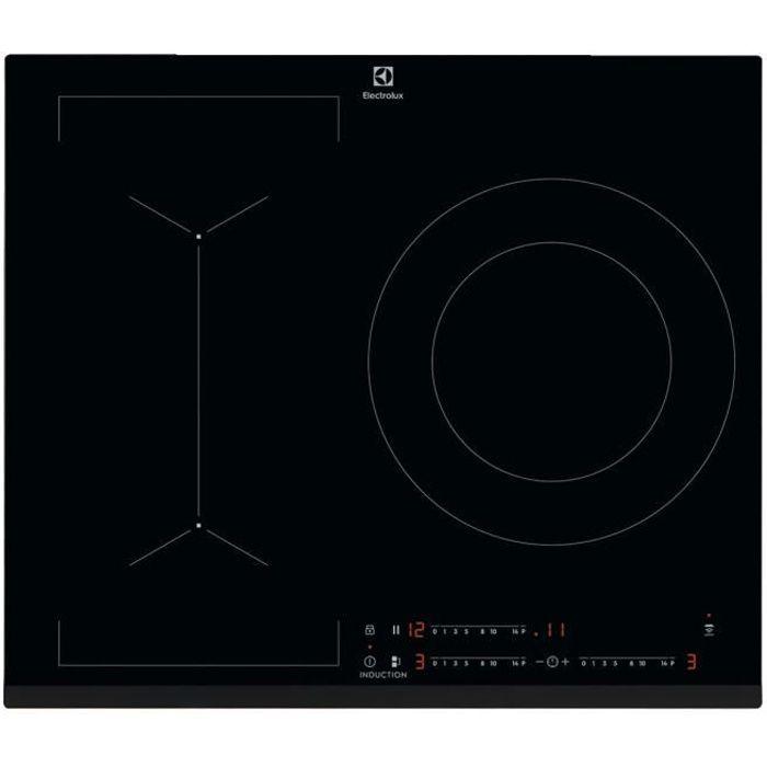 ELECTROLUX LIV633 Piano cottura a induzione - 3 zone - 7350 W - L 59 x P 52 cm - Rivestimento in vetro - Nero