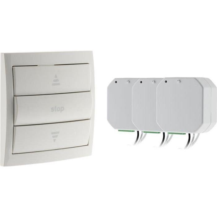 Besole000 Pack tapparelle telecomandate (1 telecomando 3 moduli) -