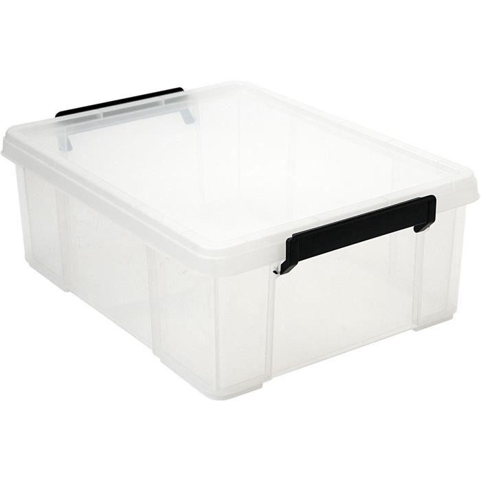 IRIS OHYAMA Contenitore impilabile con coperchio - Multi Box - MBX-18 - Plastica - Trasparente - 18 L