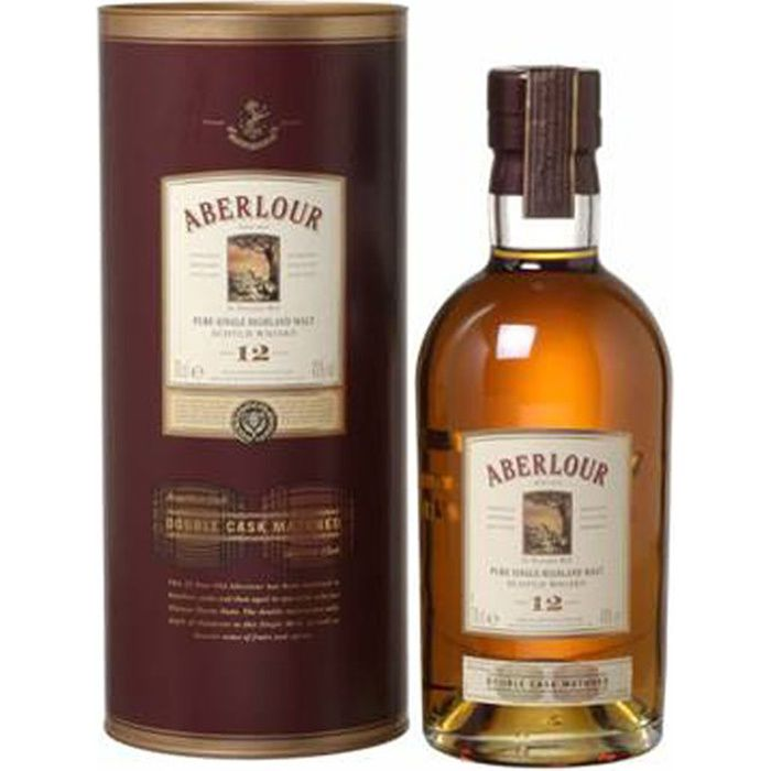 Whisky Aberlour 12 ans Double Cask - Highland Single malt whisky - Ecosse - 40%vol - 70cl sous étui