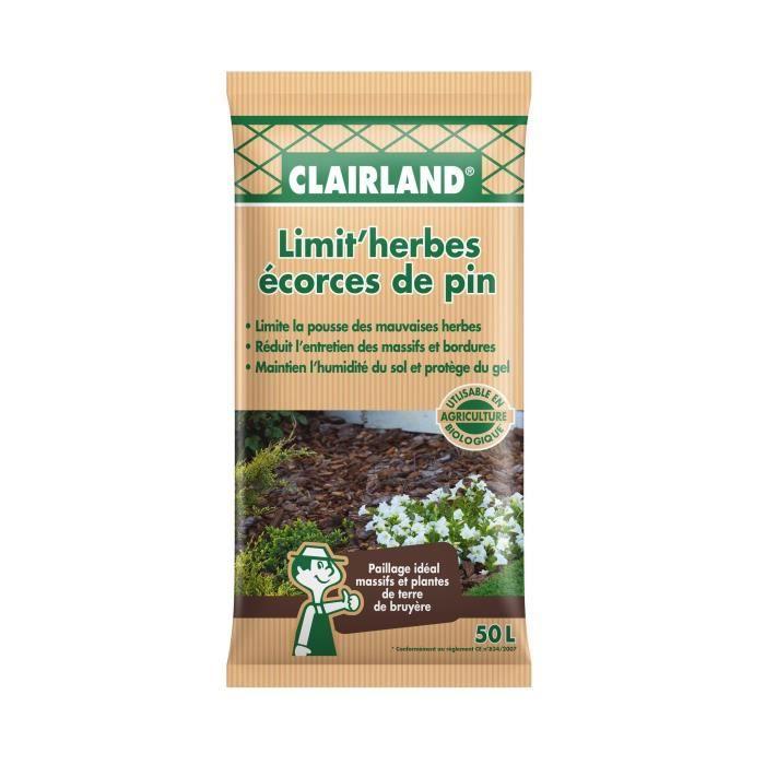 CLAIRLAND Corteccia di pino - 50 L