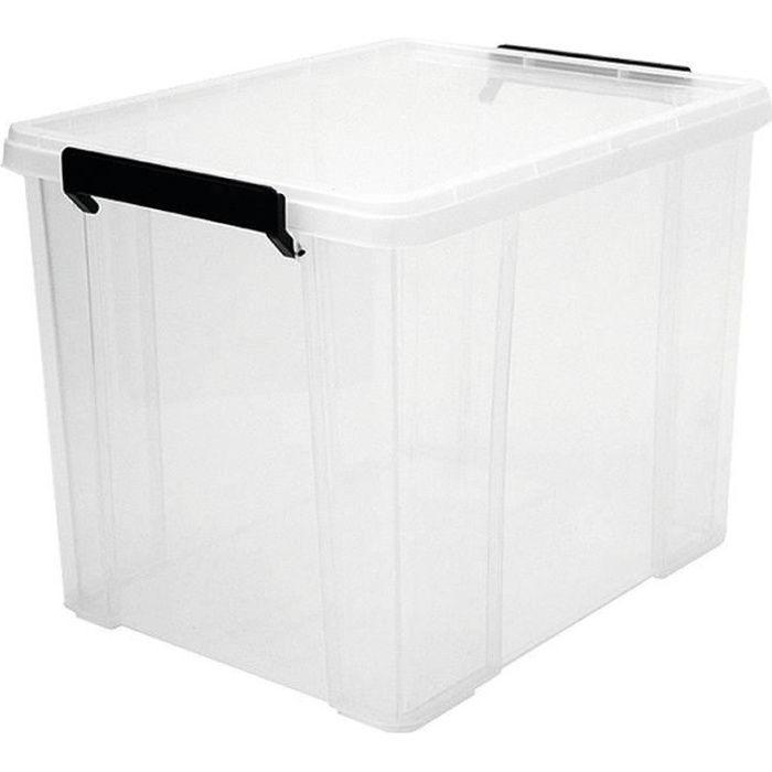 IRIS OHYAMA Contenitore impilabile con coperchio - Multi Box - MBX-38 - Trasparente - 38 L - 34,8 x 45,3 x 34,3 cm