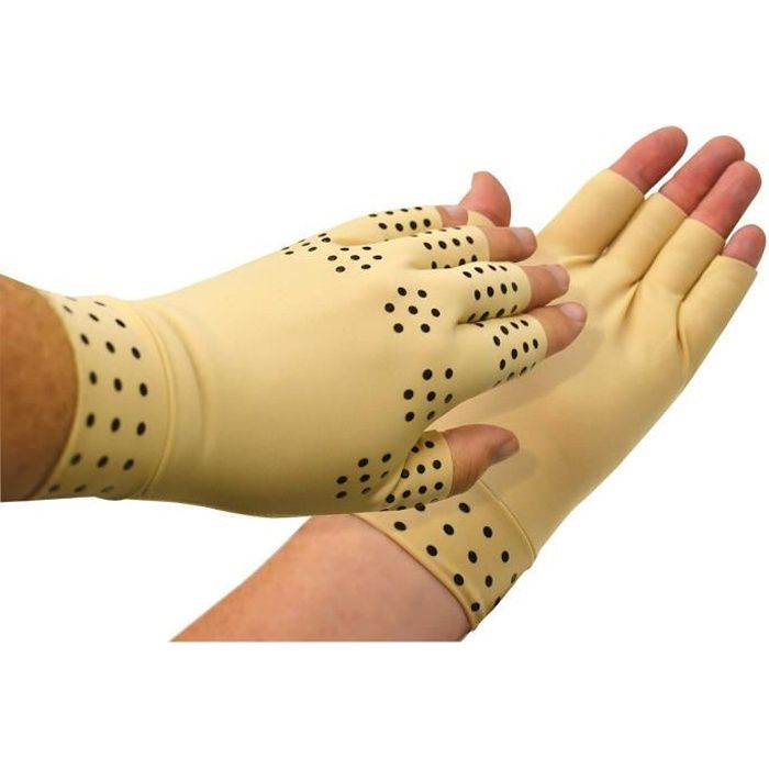 Muffole con punti magnetici VITAEASY - Taglia L - Compressione morbida - Larghezza della mano fino a 10,20 cm