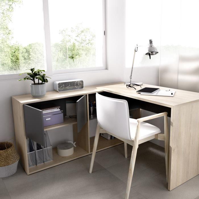 Bureau d'angle moderne et modulable en deux positions - FLEXO B