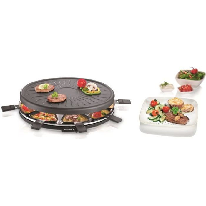 Besole000 RG2681 Macchina per raclette 8 persone - Nera