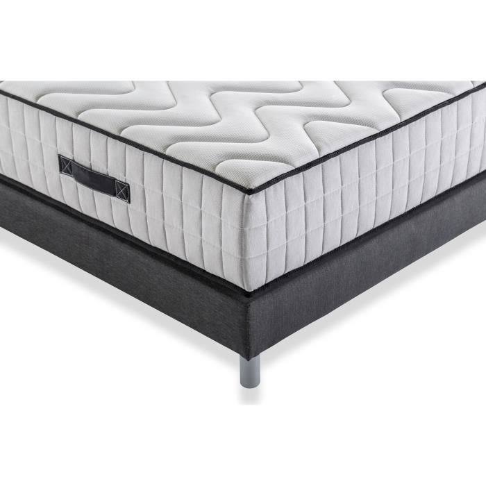 DEKO DREAM Pack pret a dormir EXTRA Matelas + Sommier 160x200 cm + Couette + 2 Oreillers