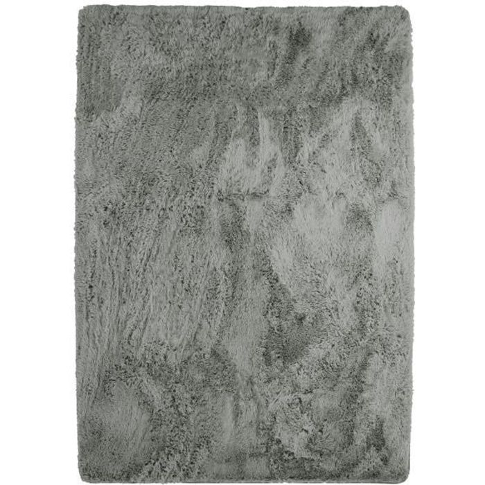 Tappeto NEO YOGA per soggiorno o camera da letto - Microfibra extra morbida - 120x170 cm - Grigio chiaro