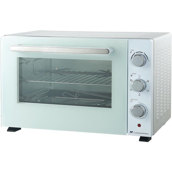 CONTINENTAL EDISON CEMF46W2 - Mini forno elettrico 46L bianco - 1800W - Girarrosto - Convezione naturale