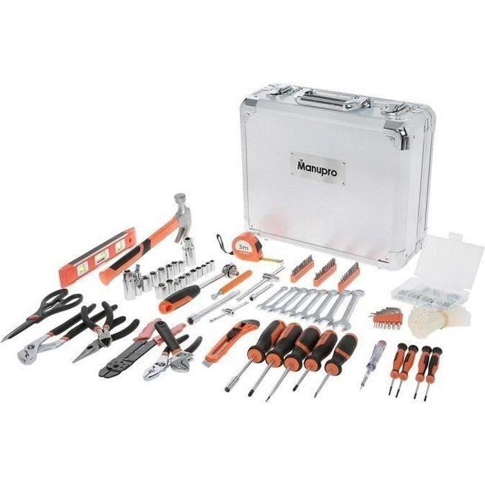 MANUPRO Valigetta portautensili in alluminio 725 utensili e accessori - acciaio e cromo vanadio