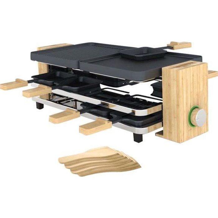 Griglia per raclette PRINCESS Pure - 1200W - 8 persone - Bambù