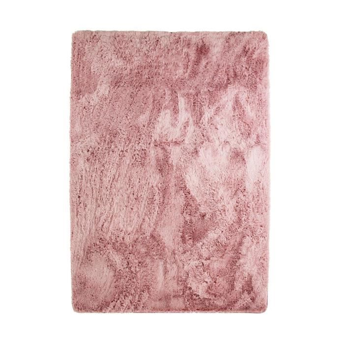 Tappeto NEO YOGA per soggiorno o camera da letto - Microfibra extra morbida - 120x170 cm - Rosa