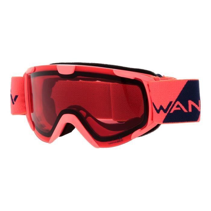 WANABEE Masque Anti UV Birdy JR 200 - Enfant - Corail