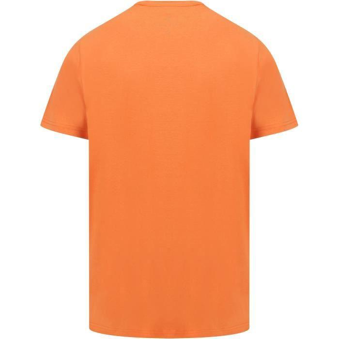 SOUTH SHORE T-Shirt Voiture Palmiers Santa Monica Orange Homme