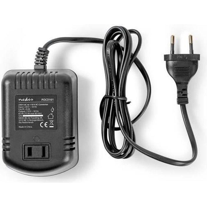 NEDIS Convertitore di alimentazione 230 V cc - 110 V ca - 75 W.