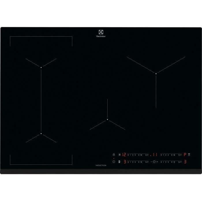 ELECTROLUX EIV734 - Piano cottura a induzione - 4 fuochi - 7350 W - 15 posizioni di potenza - Nero