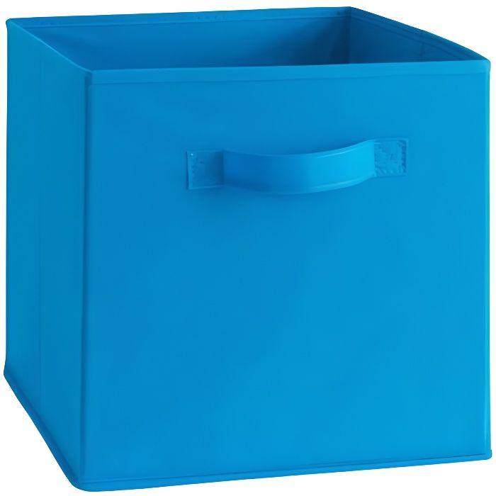 Cassetto portaoggetti COMPO - Tessuto - 27 x 27 x 28 cm - Blu elettrico