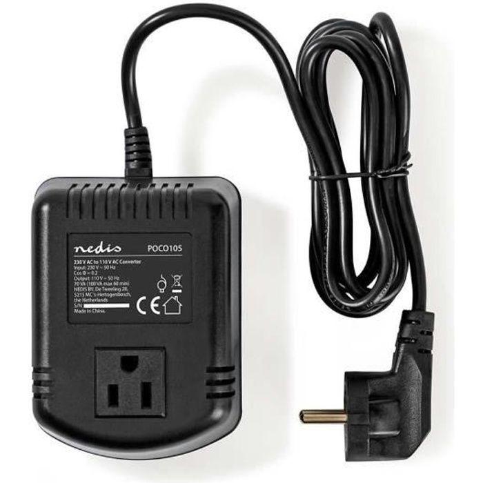 NEDIS Convertitore di alimentazione 230 V cc - 110 V ca - 100 W.