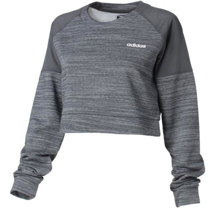 Crop Sweat Xpr Anthracite Grey S