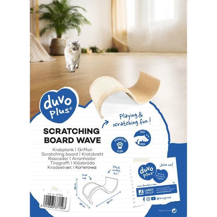 DUVO+ Griffoir Wave 55 x 28 x 18 cm - 1,004 kg - Beige - Pour chat