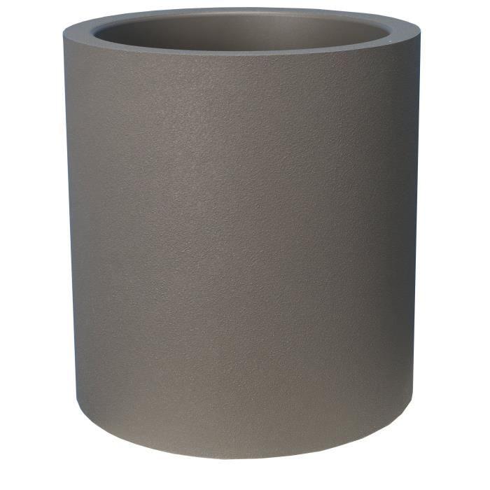 Bidone rotondo in granito RIVIERA - 30 cm - Grigio