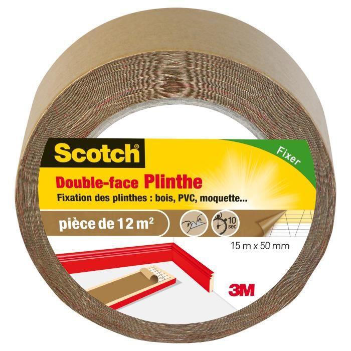 3M SCOTCH Bifacciale - 15 mx 50 mm - Battiscopa