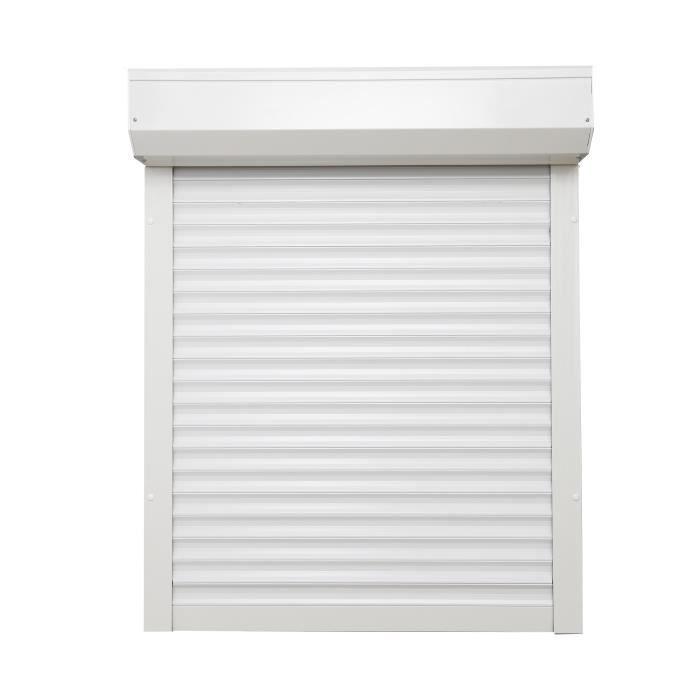 Avvolgibile SOMFY PVC bianco cablato 120x120
