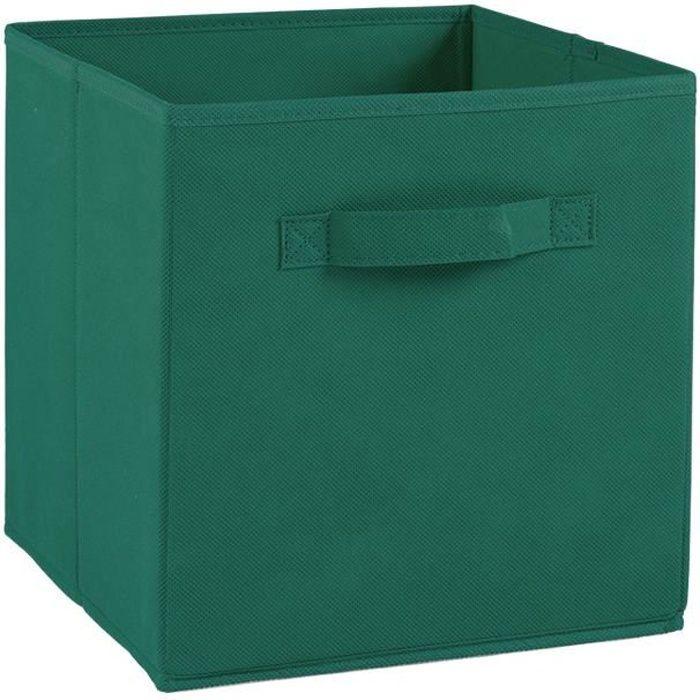 Cassetto portaoggetti COMPO - Tessuto - 27 x 27 x 28 cm - Verde inglese