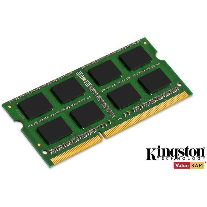 KINGSTON - Mémoire PC Portable ValueRAM SO-DIMM DDR3 - 8Go (1x8Go) - 1600MHz - CAS11 (KVR16LS11 / 8)