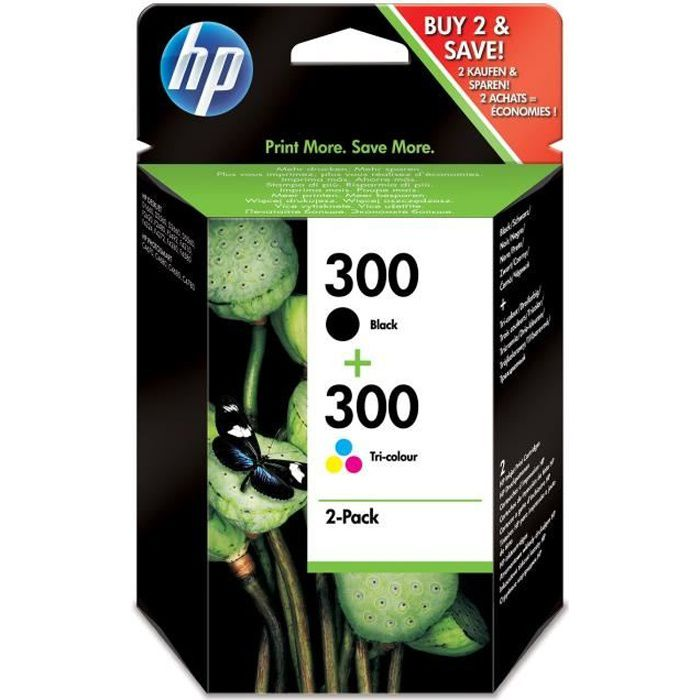 Pack 2 cartucce HP 300