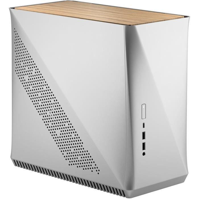 FRACTAL DESIGN BOITIER PC Era ITX - Argento- Quercia bianca - Grigio - Formato ATX (FD-CA-ERA-ITX-SI)