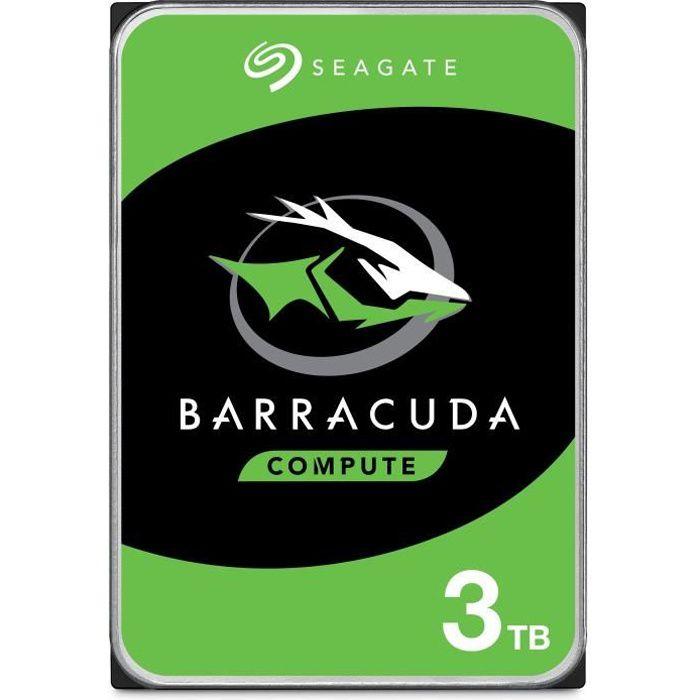 SEAGATE - Disque dur Interne - BarraCuda - 3To - 5400 giri / min - 3,5 \