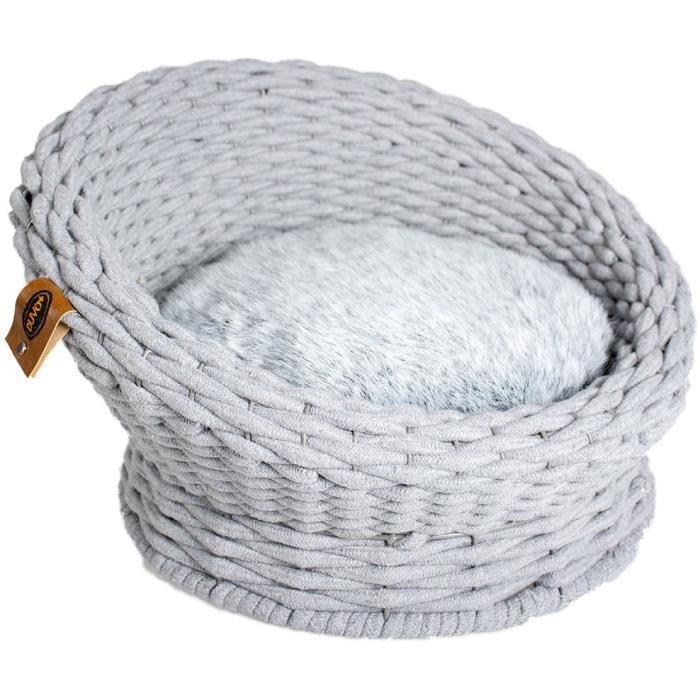 EUROPET BERNINA Sofa Oyster en corde coton Duvo+ - Gris - Pour chat